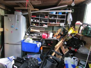 clutter in a basement